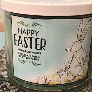 Bbw happy Easter chocolate bunny candle